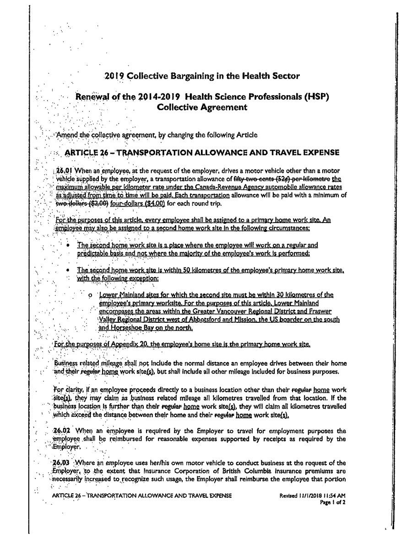 HSP Bargaining | PEA
