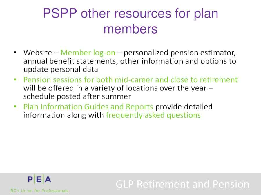 GLP | Know Your Contract | PEA
